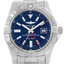 Breitling Aeromarine Avenger Ii Gmt Blue Dial Steel Mens Watch...