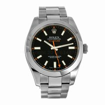 Rolex Milgauss 116400 Black Dial Clear Crystal Watch (Pre-Owned)