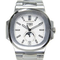 Patek Philippe New  Nautilus Stainless Steel Silver Automatic...