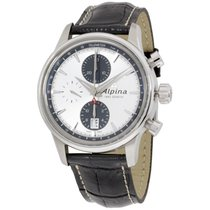 Alpina Alpiner Silver Dial Leather Strap Men's Watch...