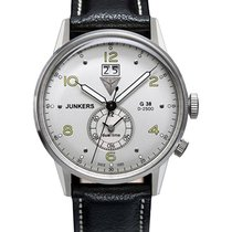 Junkers G38 Quartz Watch Big Date 2nd Time Zone 42mm S/s Case...
