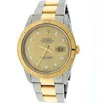 Rolex Datejust Thunderbird Turnograph 2-Tone Diamond Dial Watch
