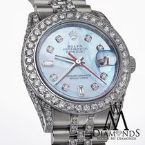 Rolex Datejust 116234 36mm Ice Blue Mop Stainless Steel...