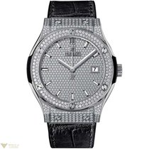 Hublot Classic Fusion Quartz Titanium Diamonds Women`s Watch