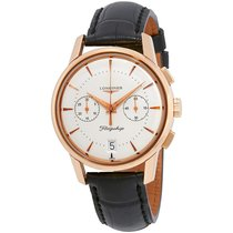 Longines Flagship Heritage Chronograph Champagne Dial Black...