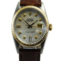 Rolex DateJust Two Tone 18kt Yellow Gold/SS MOP Dial-16013