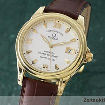 Omega 18k De Ville Gmt Co-axial Chronometer 59113122 Limitiert