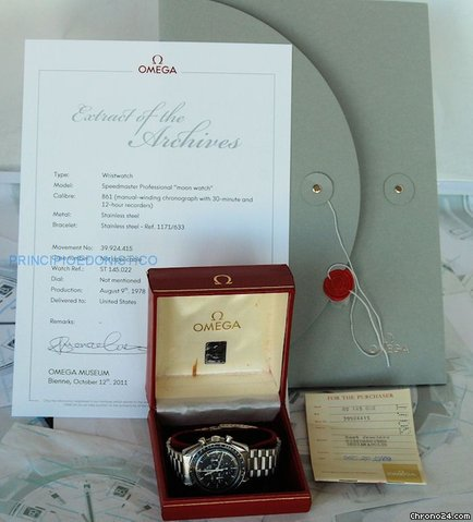 Omega Speedmaster Moonwatch Chrono 1978 Con Cofanetto Garanzia E Certificato