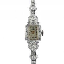 Croton Art Deco 18kt Weißgold Diamond 3ct Handaufzug 19x14mm...
