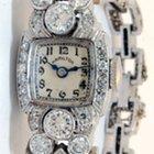 Hamilton Ladies Platinum & 3.35 CT Diamond Watch
