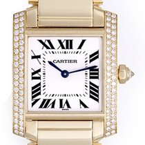 Cartier Tank Francaise Midsize 18k Yellow Gold Watch WE1017R8