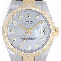 Rolex Datejust Midsize 31mm Steel & Gold 24 Diamond Dome...