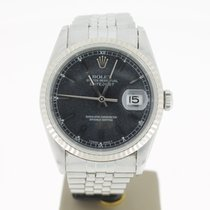 Rolex Datejust Steel 36mm White Gold Bezel Black/Grey Dial...