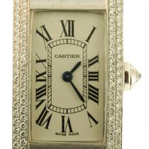 Cartier Tank Americaine 2489 Factory Diamond Bezel Solid 18k...