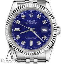 Rolex Mens Rolex 36mm Datejust Blue Color Dial With 8+2...