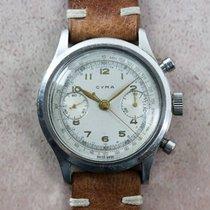 Cyma Vintage Clamshell Valjoux 22 Chronograph