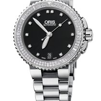 Oris Aquis Date Diamonds, 118 Diamond Set, Steel Bracelet