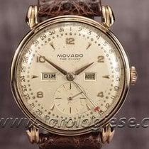 Movado Calendograf Vintage 18kt. Red Gold Complication Watch...