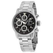 Fortis Flieger Classic Chronograph Black Dial Stainless Steel...