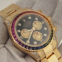 Rolex Daytona 18k Yellow Gold Rainbow UNWORN 116598 RBOW