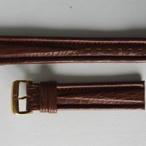 Omega VINTAGE BROWN LEATHER STRAP WITH GOLD PLATE 18MM RARE...