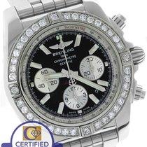 Breitling Chronomat 44 2.80ctw Diamond B01 01 AB0110 Stainless...