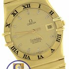 Omega Constellation 34mm Diamond Roman 18K Yellow Gold Quartz