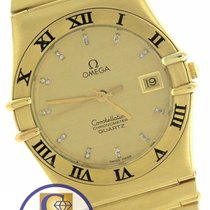 Omega Constellation 34mm Diamond Roman 18K Yellow Gold Quartz