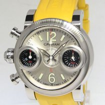 Graham Swordfish Chronograph Stainless Automatic Mens Watch...
