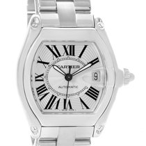 Cartier Roadster Mens Automatic Watch W62025v3 Box Papers Strap