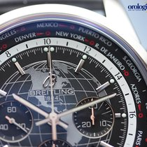 Breitling Men's Transocean Chronograph Unitime Steel on...