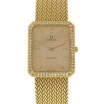 Omega 18K Yellow Gold & Diamonds