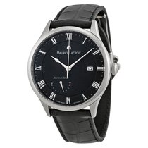 Maurice Lacroix Masterpiece Black Leather Mens Watch MP6807-SS...