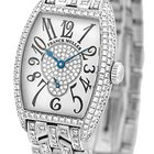 "Franck Muller Lady's 18K White Gold  Pave Diamond ""Cin..."