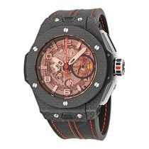 Hublot Ferrari Carbon Red Magic Automatic Openwork Dial Black...