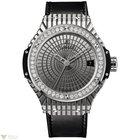 Hublot Big Bang 41 mm Steel Diamonds Black Rubber Caviar...