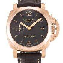 Panerai Luminor Marina 1950 3 days gold 42mm brown chocolate NEW