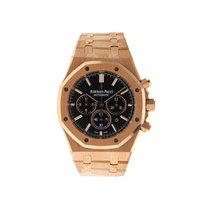 Audemars Piguet ROYAL OAK CHRONO ROSE GOLD BLACK DIAL