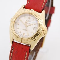 Breitling Callistino Lady 750Gold Perlmutt ZB Box & Papiere
