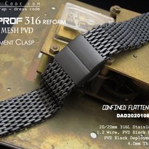 MiLTAT 20mm 316L SS Shark-Mesh Milanese Band, PVD Black