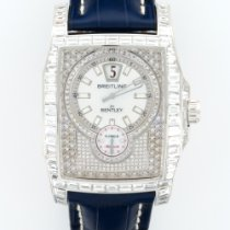 Breitling White Gold Flying B Baguette Diamond Ref. J28362