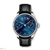 IWC Portuguese Annual Calendar Stainless Steel Blue Men`s Watch