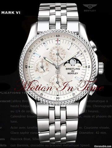 Breitling BENTLEY MOTORS MARK VI COMPLICATIONS 19 S/S &amp;amp; PLATINIM
