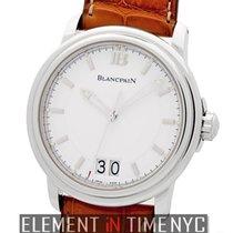Blancpain Leman  Grande Date Stainless Steel White Dial 40mm