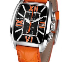 Locman History 487N00BKFOR0PSO Black Orange Quartz Men