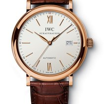 IWC PORTOFINO AUTOMATIC 40MM SILVER DIAL 18K RED GOLD