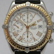 """Breitling """"Crosswind Chronograph"""" 18K gold/steel. Full..."""