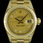 Rolex 18k Y/G O/P Champagne Diamond Dial & Lugs Datejust...