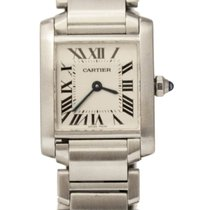 Cartier Tank Francaise SS 20X25mm Silver Dial 2384 Watch