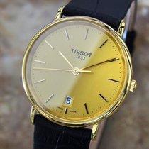 Tissot Swiss Made Mens T882k Luxury Gold Plated Quartz Dress...